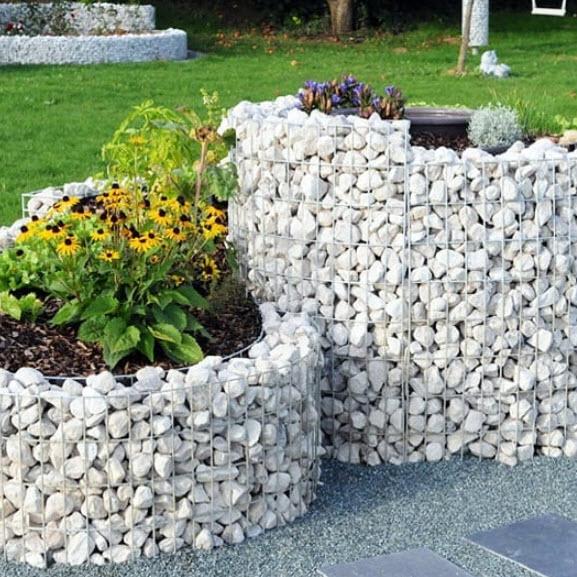 клумбы из камней своими руками на даче